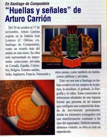 """Exposicion """"Huellas y señales"""" Galeria José Lorenzo"""